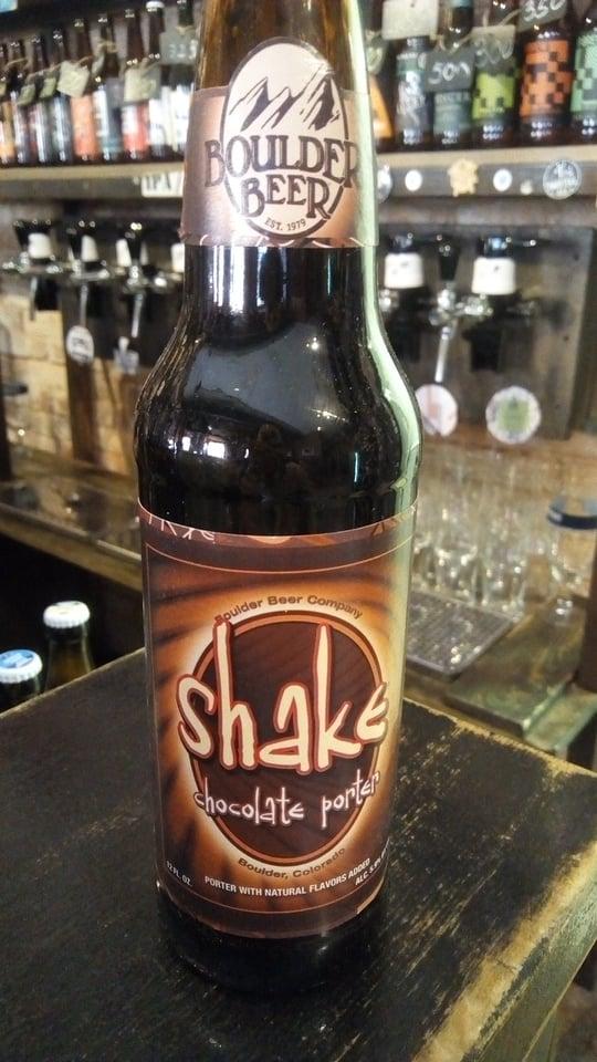 Shake chocolate porter (Boulder beer company)