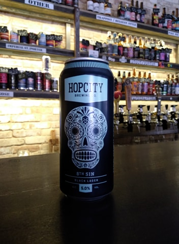 8th Sin Black Lager (Hop City Brewing Co.)